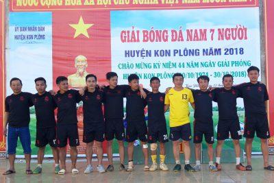 Đoạt cup Vô Địch giải bóng đá nam 7 người huyện Kon Plông chào mừng 44 năm ngày giải phóng huyện Kon Plông (30/101974-30/10/2018)