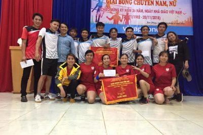 Phòng GD&ĐT Kon Plông tổ chức thành công giải bóng chuyền Nam-Nữ chào mừng 36 năm Ngày nhà giáo Việt Nam (20/11/1982-20/11/2018).